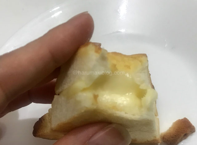 三角チーズパンをトースト