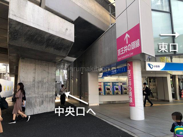 小田急線下北沢駅中央口へ